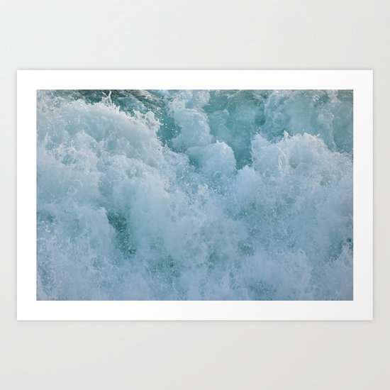 BUBBLES ON THE OCEAN Art Print