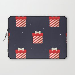 Red Christmas Gift Pattern Laptop Sleeve