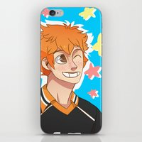 haikyuu iPhone & iPod Skins featuring Hinata Haikyuu!! by Dreki