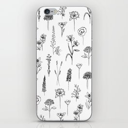 Patagonian wildflowers white iPhone Skin