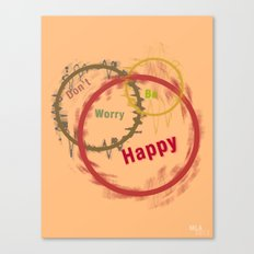 Be Happy Canvas Print