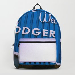 Welcome to Dodger Stadium | Los Angeles California Nostalgic Iconic Sign Sunset Art Print Tapestry Backpack