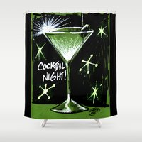 martini Shower Curtains featuring Martini  by David Miley