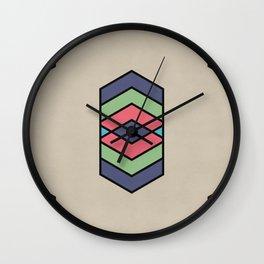Natural vector pattern in fun colors Wall Clock
