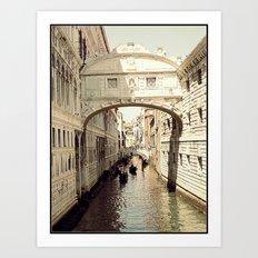 ponte dei sospiri Art Print