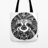sloth Tote Bags featuring Sloth by Emma Barker