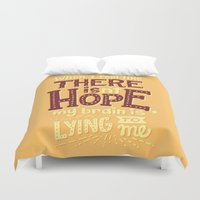 risa rodil Duvet Covers featuring There is hope by Risa Rodil