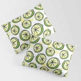 Yellow Lemons Watercolor Pillow Sham