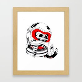 chopped in space Framed Art Print