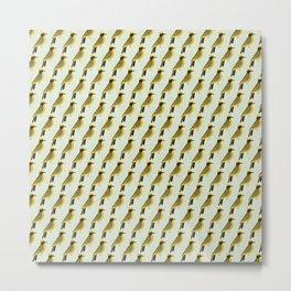 Helmeted Honeyeater | Pattern Metal Print