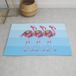 A Small Flock of Flamingos Rug
