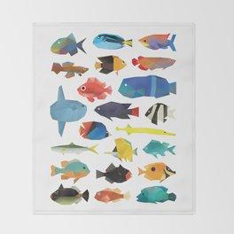Tropical Fish chart Throw Blanket