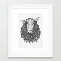 sheep Framed Art Prints featuring Sheep by Thea Nordal