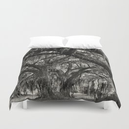 Live Oaks with Spanish Moss, Georgia Duvet Cover