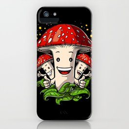 Magic Mushrooms Psychedelic Psilocybin Shrooms iPhone Case