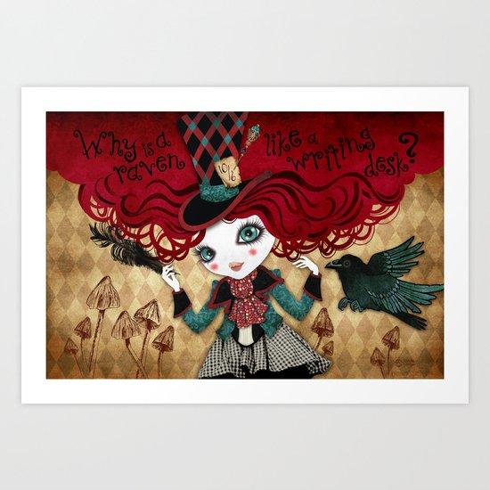Mad Riddle Art Print