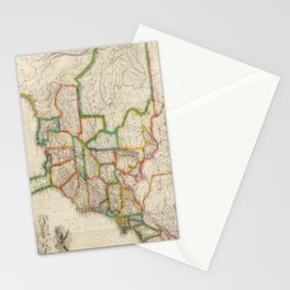 Vintage United States Map (1822) Stationery Cards