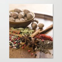 spice Canvas Prints featuring Spice by Candace N'Diaye