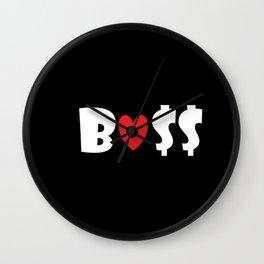 Boss (black) Wall Clock
