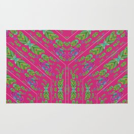 Infinities of Love in Abstract Pink Rug