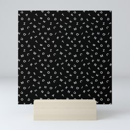 The Missing Letter Alphabet B&W Mini Art Print