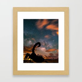 Milky Way over Scorpion, Borrego Springs, CA Framed Art Print