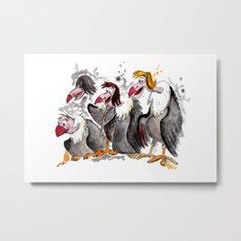 Jungle Book Vultures Metal Print