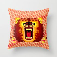 Geometric Bear 2012 Throw Pillow