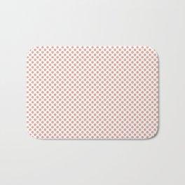 Coral Pink Polka Dots Bath Mat