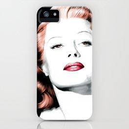 Rita Hayworth Large Size Portrait iPhone Case
