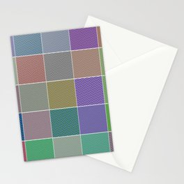Abstract Quilt Multi Colored Tile Pattern Stationery Cards