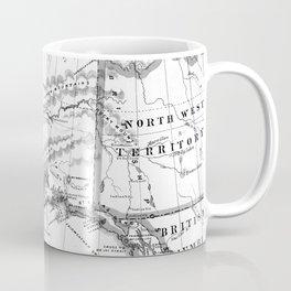 Vintage Map of Alaska (1883) BW Coffee Mug