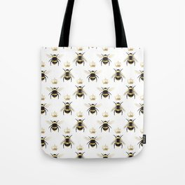 Gold Queen bee / girl power bumble bee pattern Tote Bag