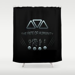 The Fate of Humanity Shower Curtain