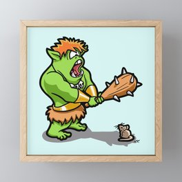 Ollie the Cyclops Finds His Nemesis Framed Mini Art Print