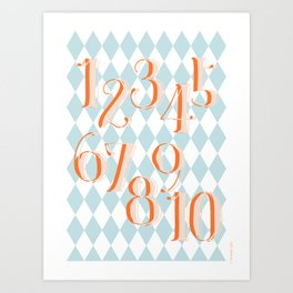 Counting Poster Art Print