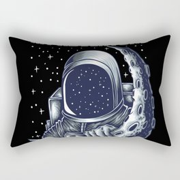 Astronaut Space Rocket Surfing Rectangular Pillow