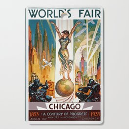 Vintage World's Fair Chicago IL 1933 Cutting Board