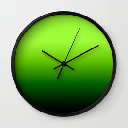 Lime Gradient Wall Clock