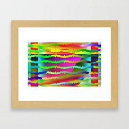 Artistic-fence-pattern Framed Art Print