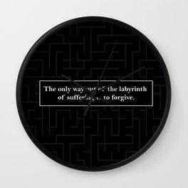 Labyrinth Quote - Looking for Alaska Wall Clock