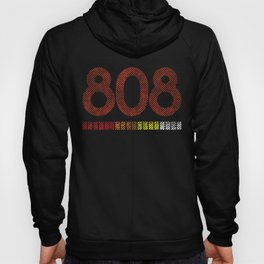 808 Retro Style Roland Electronic Drum Machine design Hoody