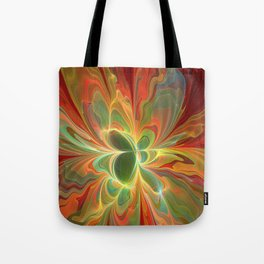 With a lot of Red, Abstract Art Tote Bag