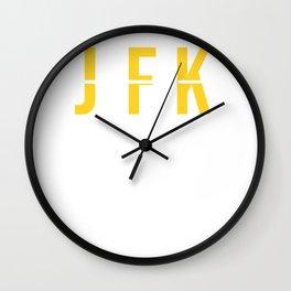 JFK - John F. Kennedy International Airport - Airport Code Souvenir or Gift Design Wall Clock