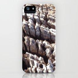 Ocean washed tree stump pattern iPhone Case
