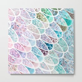 DAZZLING MERMAID SCALES Metal Print