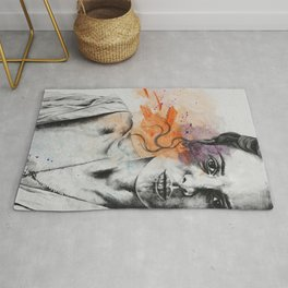 Everything, Everything | expressive sexy female portrait Rug