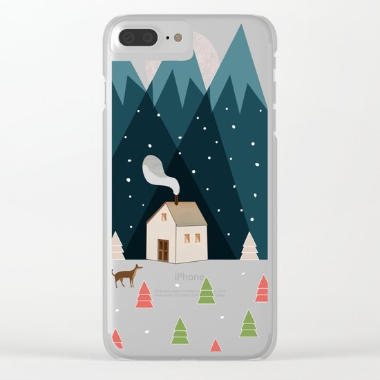 Winterworm Clear iPhone Case