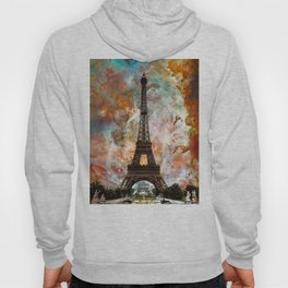 The Eiffel Tower - Paris France Art By Sharon Cummings Hoody