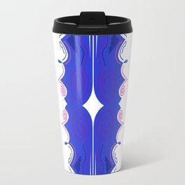 Luxury ornaments bluewhite Travel Mug
